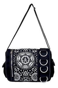 Nouveau Bagram Dark Goth Arts Pentagram Witchcraft Sac bandoulière Black occulte TqxZBFWz1w