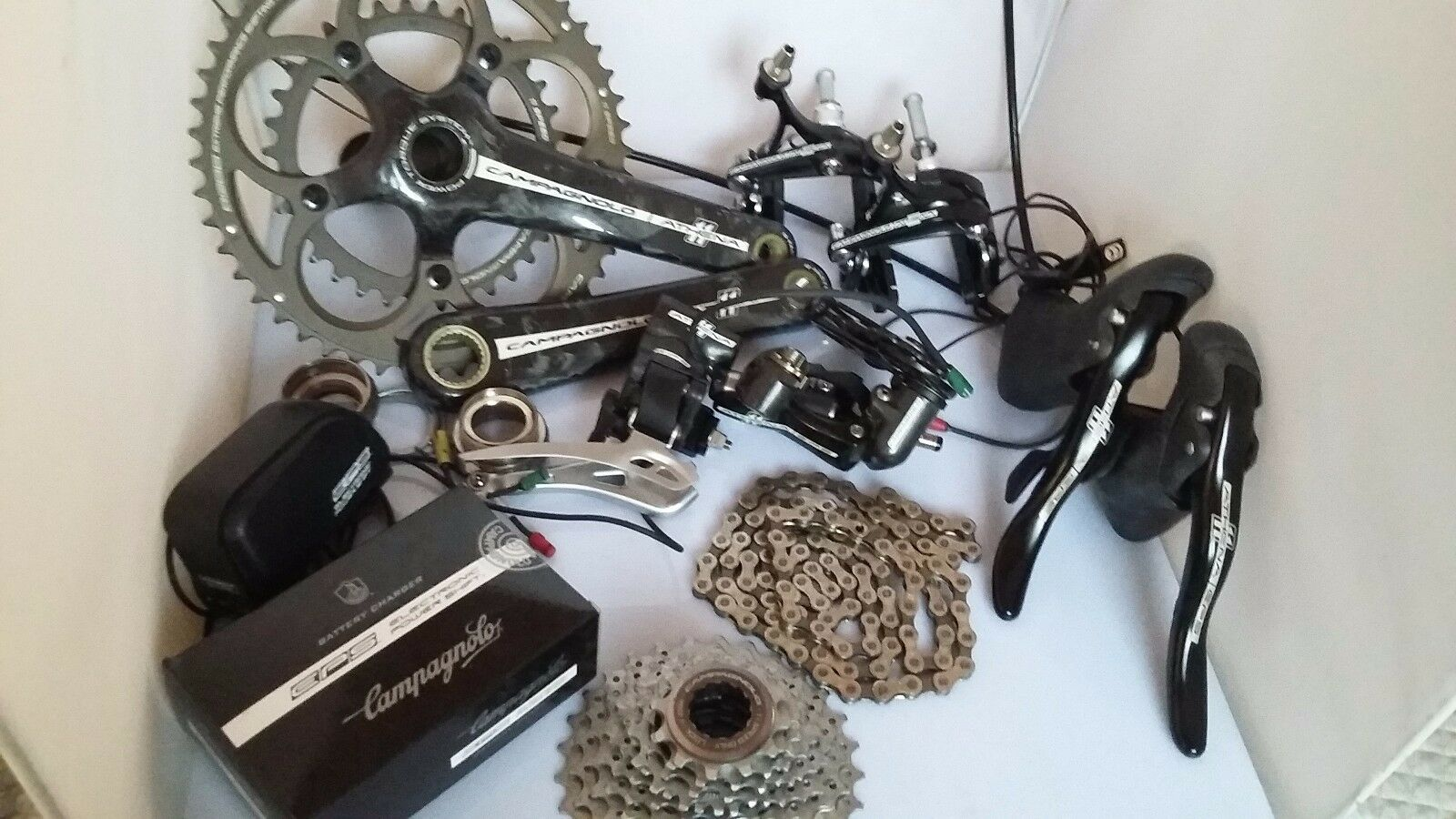 Campagnolo Athena EPS CT Power Torque Carbon  11 speed group set 50 34 Complete