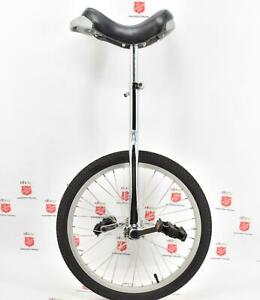"Chrome Unicycle w/ Adjustable Seat 20"" Wheel - Alloy Rim (1281)"