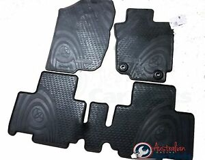rav4 rubber floor mats front rear set of 4 new genuine. Black Bedroom Furniture Sets. Home Design Ideas