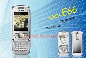 Original Nokia E66 GSM WCDMA WIFI Bluetooth 3.15MP Camera Unlocked Cell Phones