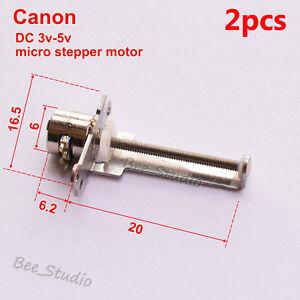 Details about 2pcs DC 3v~5v 2-phase 4-wire Micro Mini Stepper Motor Linear Screw Slider DIY