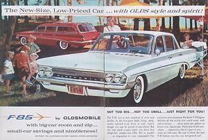 Verlegen 1961 Oldsmobile F-85 Prospekt Brochure Catalogue Depliant Englisch Selbstbewusst usa Unsicher Gehemmt Befangen