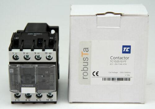 TC robusTa Contactor TC1D2510 P7 Schütz 25A//11kW 415V #D8050