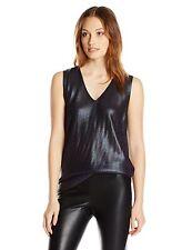 Anne Klein Metallic Tone Sleeveless Sweater Tank , Phoenix Atlas, Size L