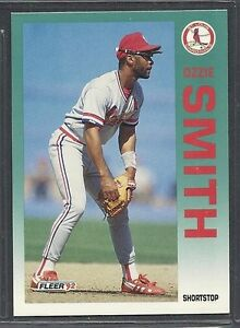 Details About 1992 Fleer Baseball Card 592 Ozzie Smith St Louis Cardinals