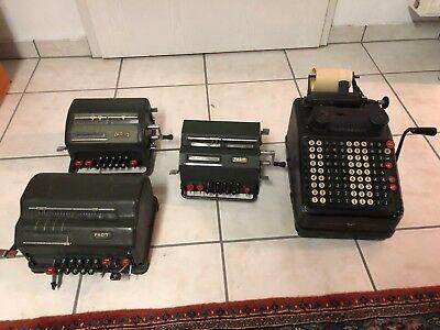 Facit Rechenmaschine 3 Stück + Weitere Rechenmaschine Continental Bequemes GefüHl
