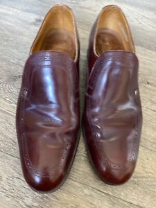 Vintage-Loake-Cavendish-Slip-On-Shoes-Uk-11-E-Maroon