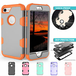 best loved 2323e 1392d Details about iPhone 8 Case 7 Plus 6s 6s Plus For Apple Full Body  Protective Anti-Shock Cover