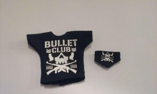 WWE 1 Custom Bullet Club Shirt /& Mask Combo for Mattel Elite Figure NJPW ROH NXT