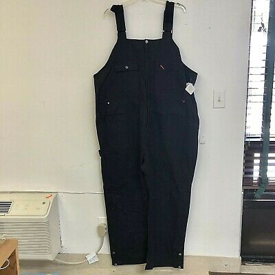 Carhartt Men/'s Duck Bib Overall R02 BLACK Quilt-Lined NEW!