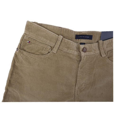 Tommy Hilfiger Men/'s Denim Slim Straight Brown Corduroy Leg Jeans $0 Free Ship