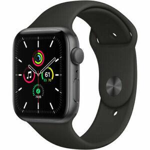 Apple-Watch-SE-40mm-GPS-Caja-de-aluminio-en-gris-espacial-Correa-deportiva-Negro