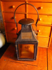 Lampe lanterne  eclairage industriel gros freres lille bel etat  haut 35 cm