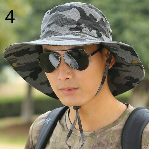 Men Women Camouflage Hat Bush Hiking Fishing Hat Military Outdoor Sun Cap Casual