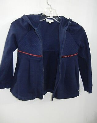 6e4c07319b Gucci Kids Girls Sz 36M 2-3T Navy Blue Hoodie Jacket Cardigan Zip Up Coat |  eBay