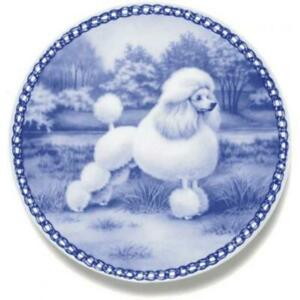 Miniature Poodle Dog Plate Made In Denmark From The Finest European Porcelain Ebay