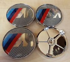 4x Awesome M Power Fits BMW MOST SERIES 68mm ALLOY WHEEL CENTRE CAPS 5 Pin
