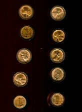 (10) BU RED 1958 P & D LINCOLN CENT WHEAT PENNY ROLL LOT 500 coins