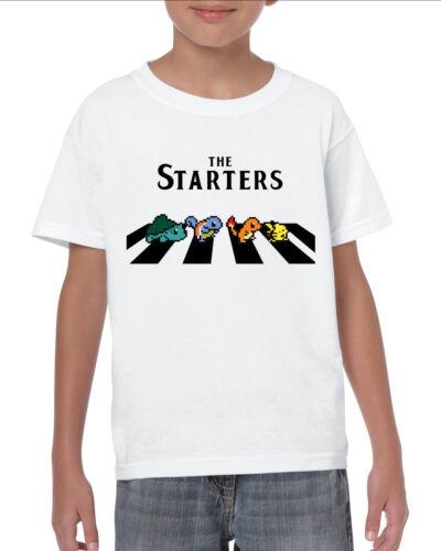 POKEMON ha ispirato il Starters Kids T-Shirt Pikachu Tee Top Età 1-13