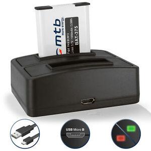 Dual-Ladegeraet-USB-Akku-DMW-BCM13E-fuer-Panasonic-Lumix-DMC-TZ56-TZ61