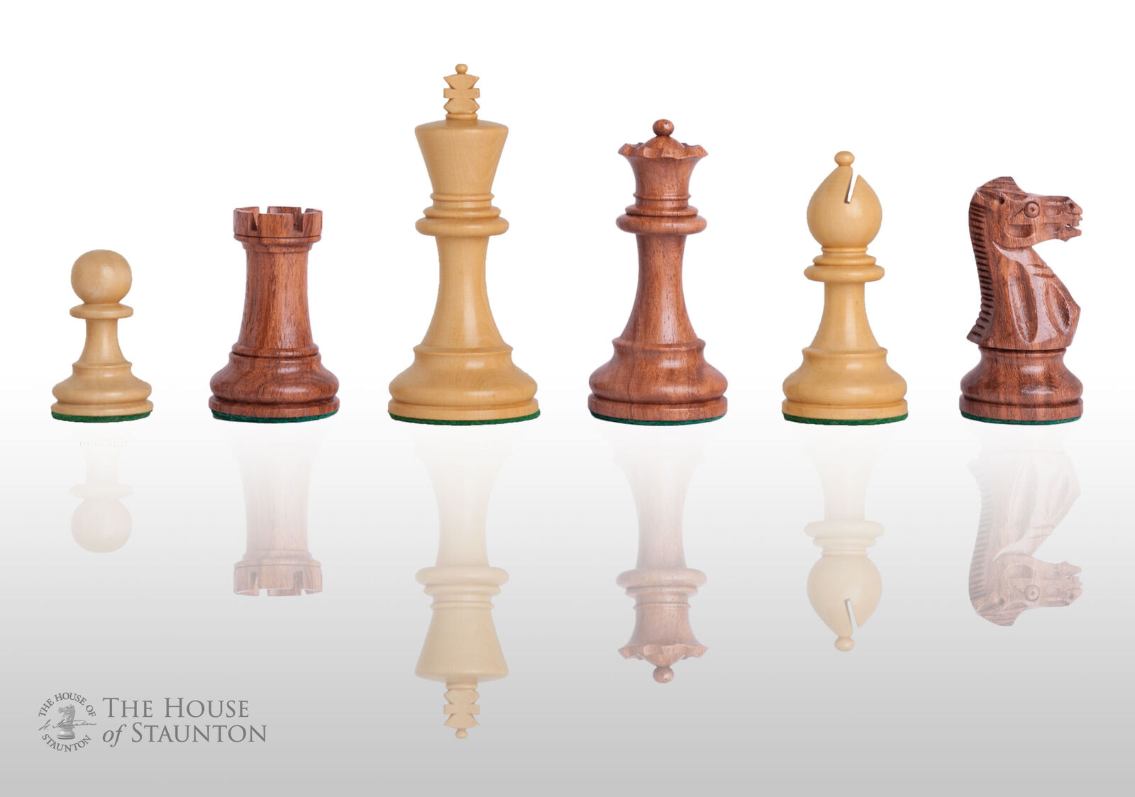 The Grandmaster Chess Set - Pieces Only - 4.0  King - oroen rosadodowood