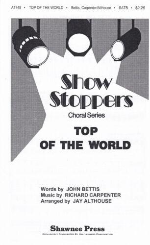 für Chor SATB und Klavier Carpenters TOP OF THE WORLD neuwertig