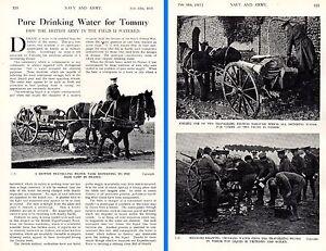 1915 WWI ~ Trinkwasser Für Soldaten Im Feld Filter Tank Pferd Und Cart