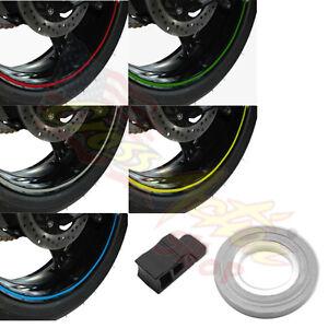 Adesivi ruote moto per KAWASAKI ZX 6R strisce RACING 7 cerchi stickers ZX6R