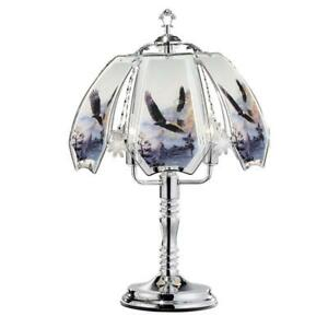 23-5-in-Flying-Eagle-Silver-Touch-On-Table-Lamp