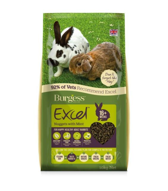BURGESS EXCEL RABBIT FOOD NUGGETS WITH TASTY MINT
