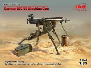 ICM-35710-1-35-German-MG08-Machine-Gun-scale-plastic-model-kit