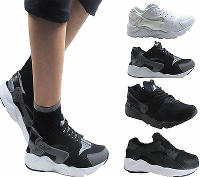 Para Hombre Chicos Running Fitness Gimnasio de inspiración deportiva Casual Zapatillas Zapatos Talla 3 - 8