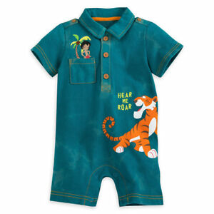 Disney Store Jungle Book Romper Fuzzy Shere Khan Applique Hear Me