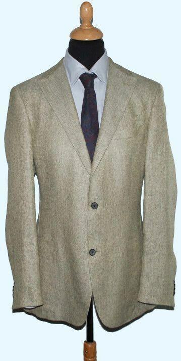 Windsor Herren Leinen Sakko Gr.  102 102 102 NEU | Ausgezeichnetes Handwerk  0eea3b