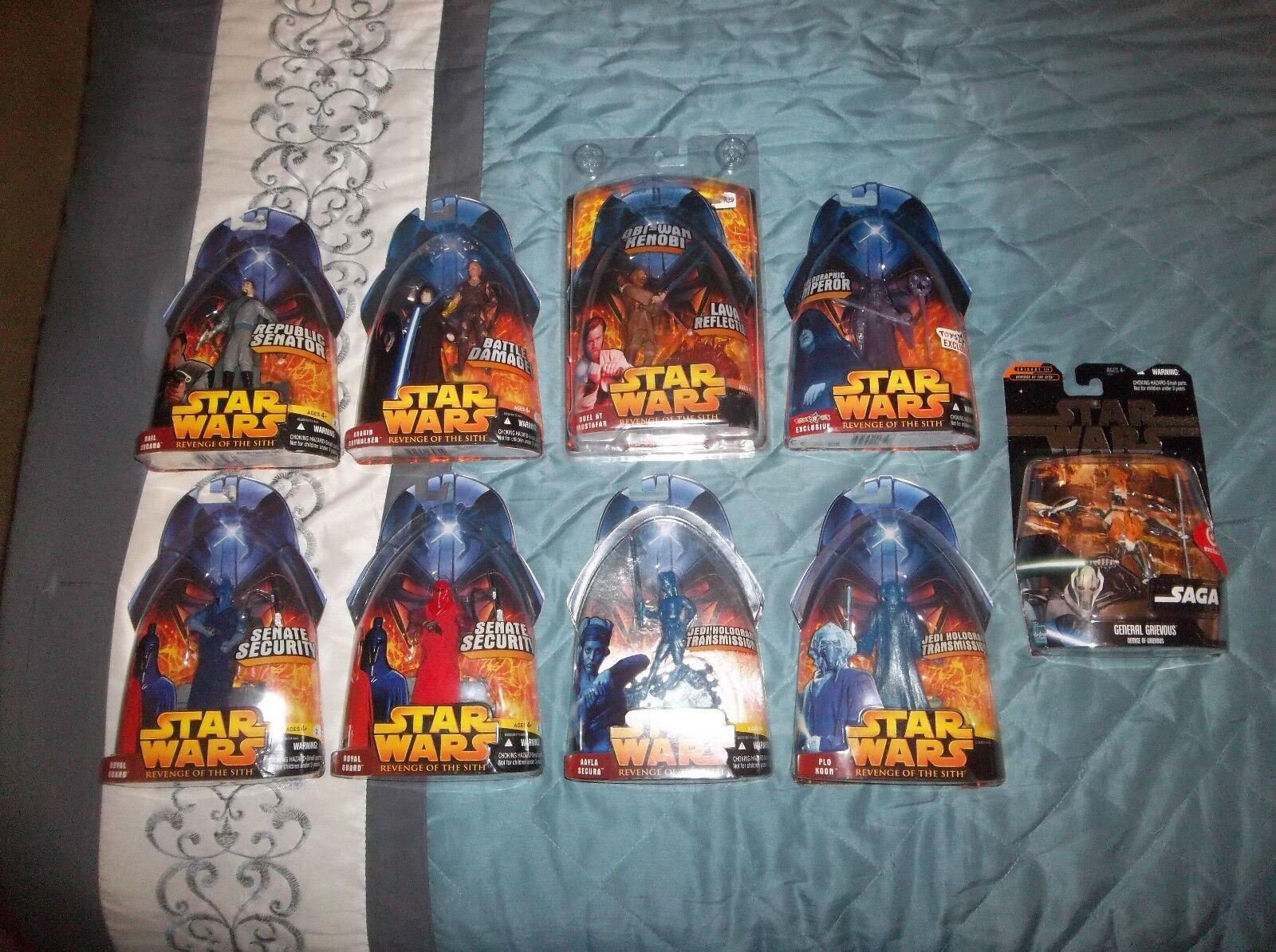 Star Wars Ep 3 Lot Obi-Wan Anakin Vader Guard Secura Koon Grievous Emperor Org