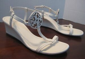 882f907b2d45 Image is loading NEW-TORY-BURCH-MILLER-WEDGE-SANDAL-BLEACH-LEATHER-