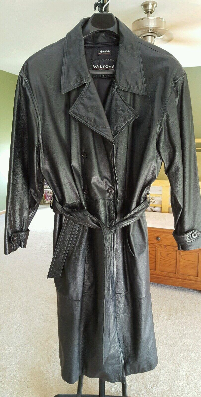 Herren Leder trench coat