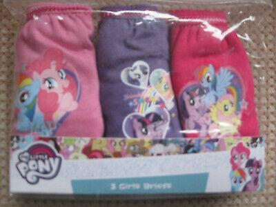 Confezione Di 3 Ragazze Slip In Cotone, My Little Pony, Dimensioni; Età, 2-3, 3-4, 4-5, 5-6-mostra Il Titolo Originale
