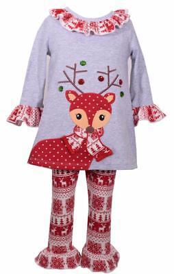 Bonnie Jean Tunic and Legging Set Nordic Reindeer Design