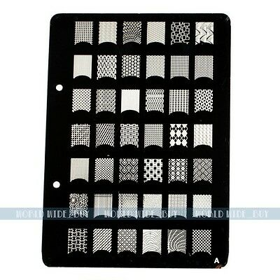 X-Large Nail Art Polish Manicure Stamping Image Plate Template DIY Tools