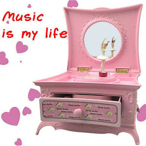 Fairy Girls Ballerina Musical Jewellery Box Music Storage Case