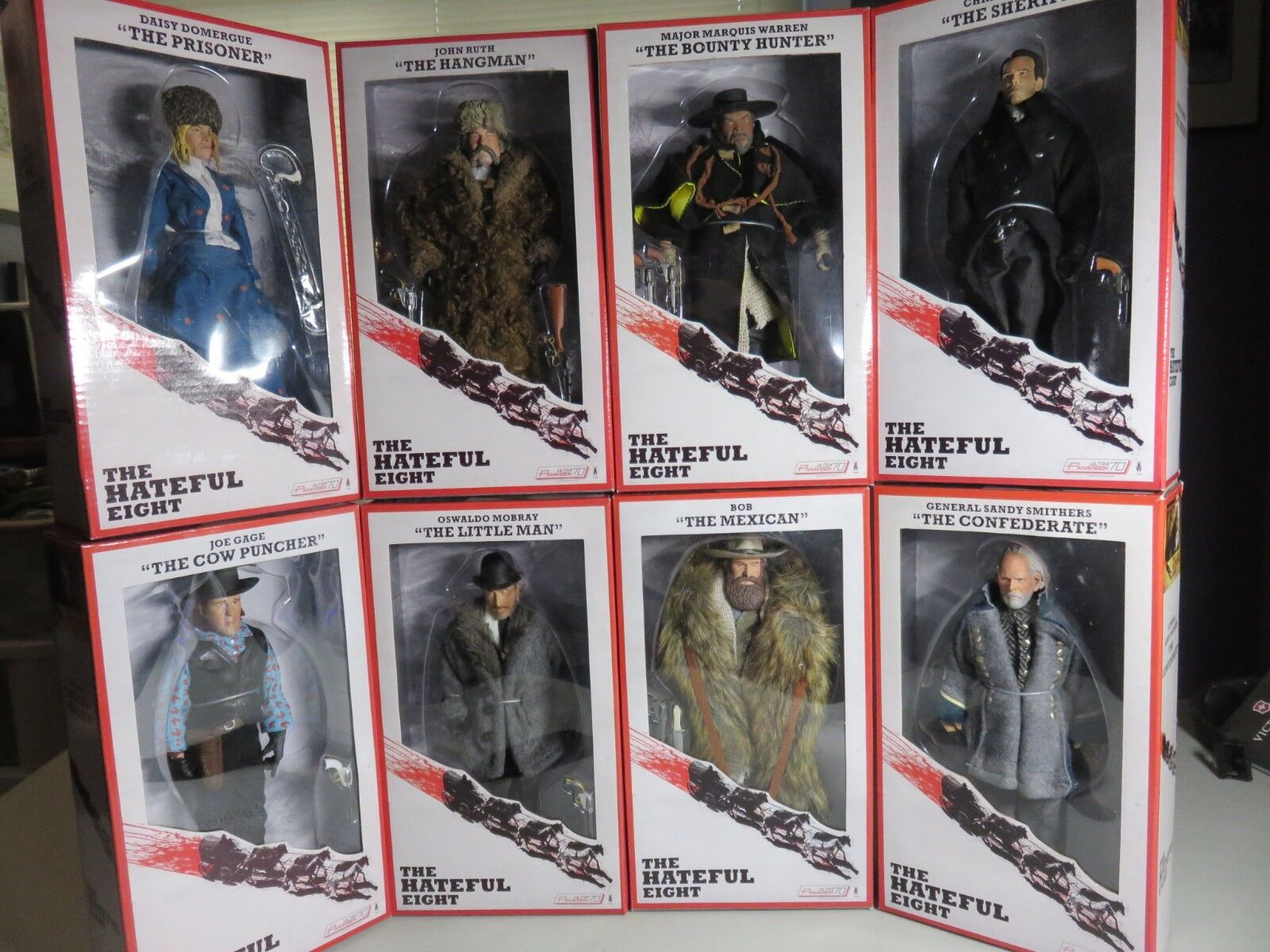 NECA The Hateful Eight Action Figures,8 in. Complete Set of all 8. NIB