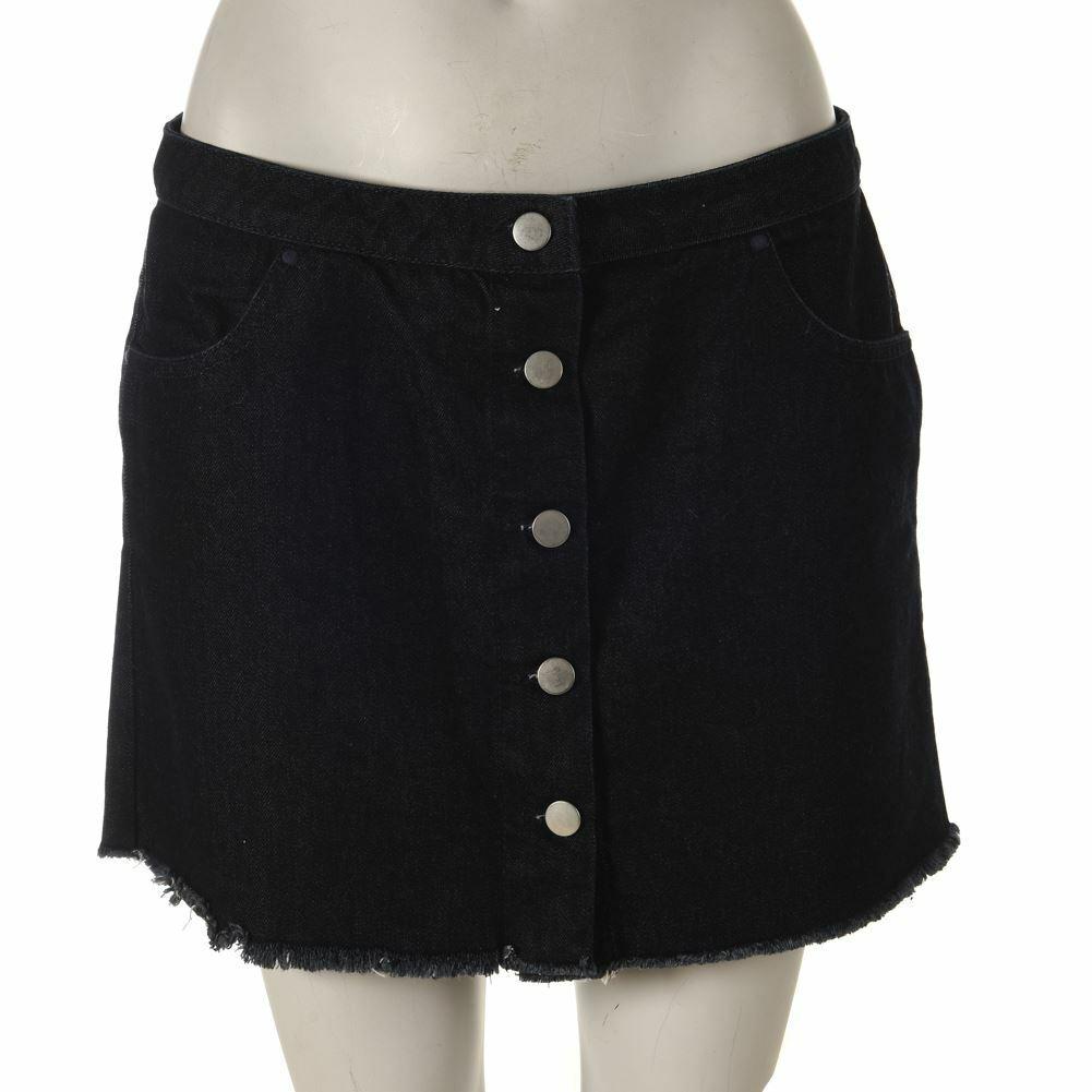 Topshop Mini Skirt Blue Denim Cotton Size US 6 UK 10 DP 294