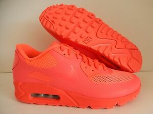 mens nike air max 90 hyp hyperfuse premium id solar red sz. Black Bedroom Furniture Sets. Home Design Ideas