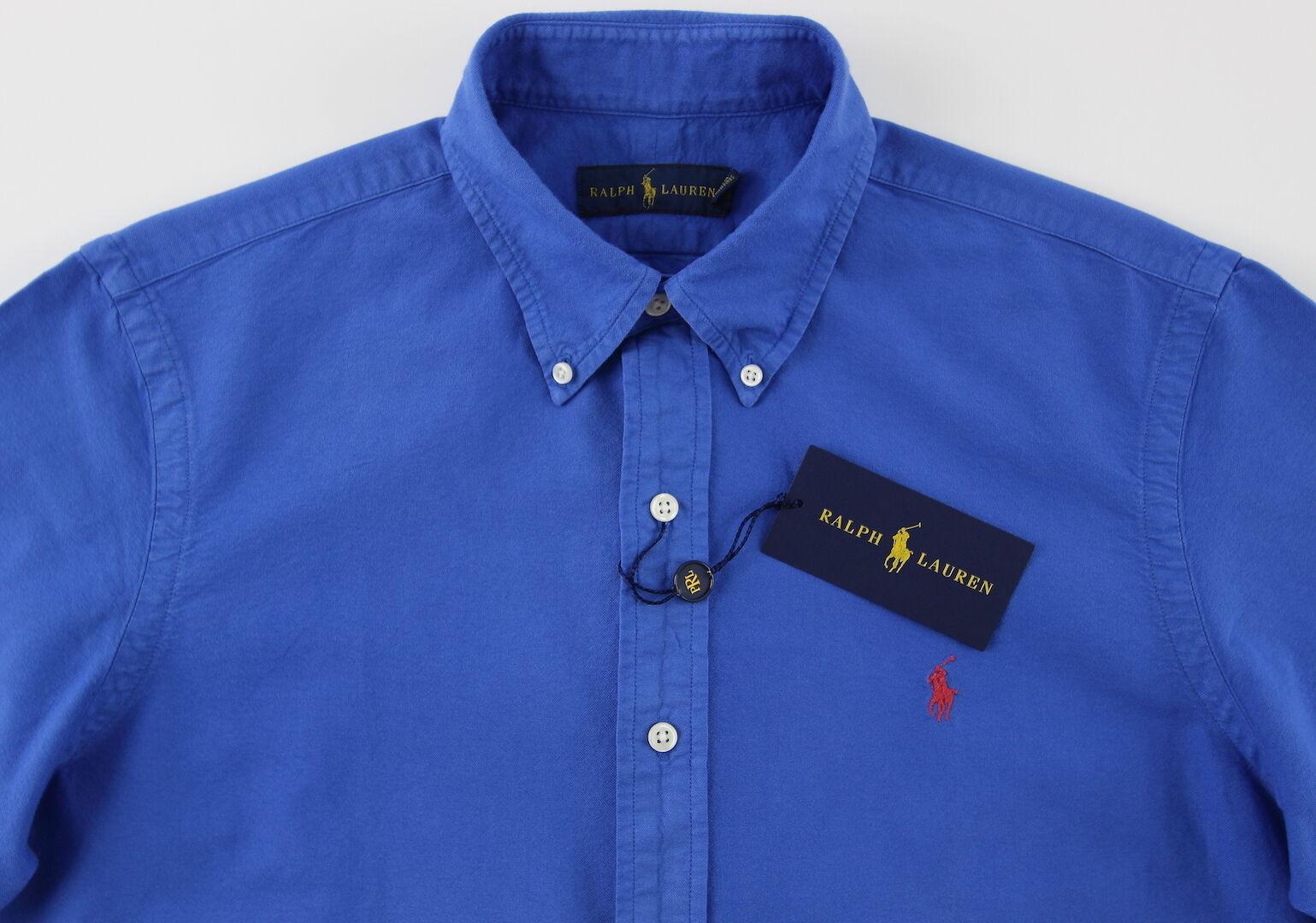 Men's RALPH LAUREN Marine Spectrum bluee Short Sleeve S S Shirt XLarge XL NWT NEW