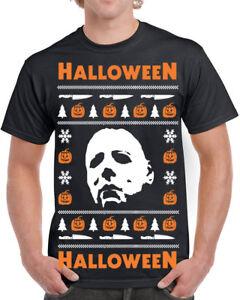 650 Halloween Mens T Shirt Ugly Christmas Sweater Slasher Costume