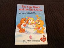 1987 The Care Bears And The Big Sneeze Book Coloring