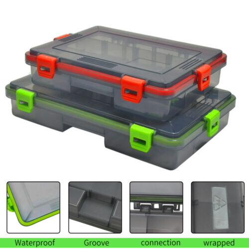 Plastic Fishing Lure Bait Hook Tackle Storage Box Case Container Compartments