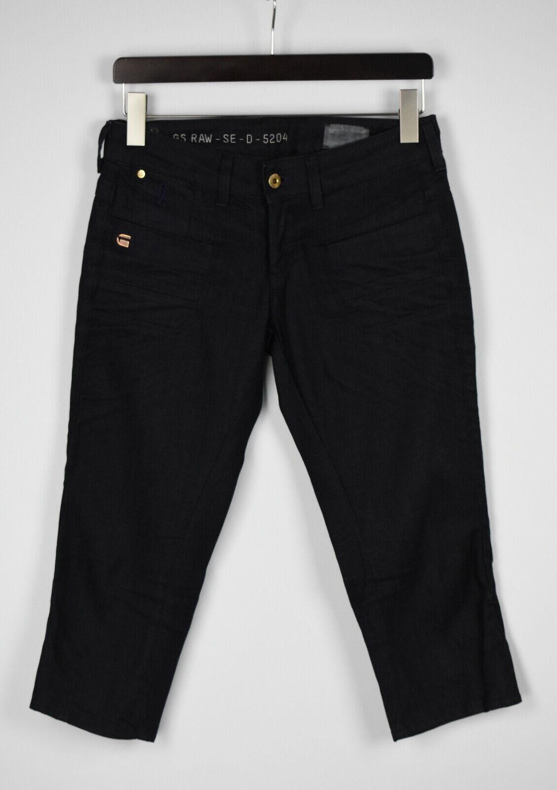 G-Star Raw Shipmate Cropped Damen W29 Dehnbar Dunkelblau Denim Shorts 27825_ Js